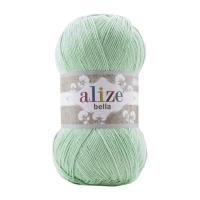 Пряжа Ализе Белла 100 (266 зеленый (мята))