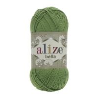 Пряжа Ализе Белла 100 (492 зеленый)