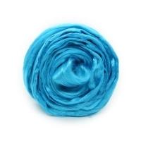 Волокно для валяния вискоза Троицкая (0474 голубая бирюза)