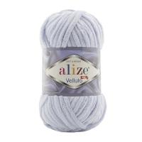 Пряжа Ализе Веллюто (416 серый)