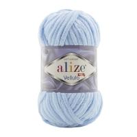 Пряжа Ализе Веллюто (218 детский голубой)