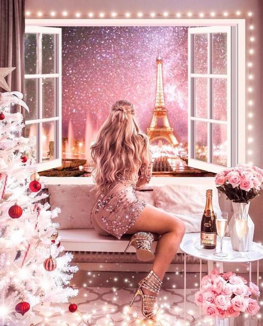 Картина по номерам GX 34585 Рождество в Париже  40*50
