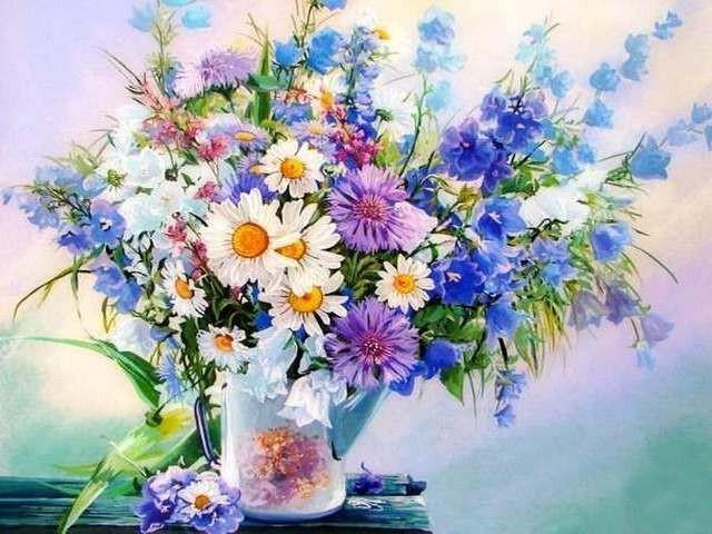 Картина по номерам GX 22874 Букет из полевых цветов 40*50 см
