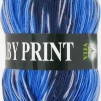 Пряжа Vita Baby Print (4883 синий)