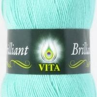 Пряжа Vita Brilliant (4992 св.зелен.бирюза)