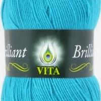 Пряжа Vita Brilliant (4993 голуб.бирюза)