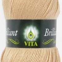 Пряжа Vita Brilliant (5108 топленое молоко)