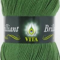 Пряжа Vita Brilliant (5111 зеленый)