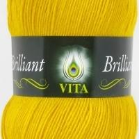 Пряжа Vita Brilliant (5112 желтый)