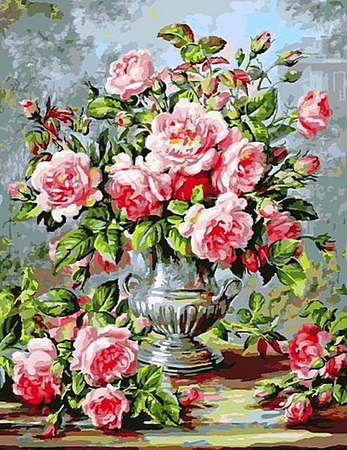Картина по номерам GX 9081 Роскошный букет роз 40*50 см