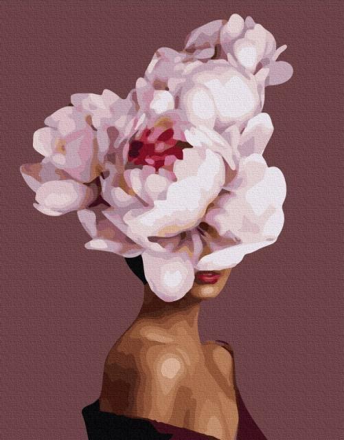Картина по номерам GX 36692 Девушка-цветок 40*50 см