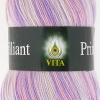 Пряжа Vita Brilliant Print (2610 бело-розовый)