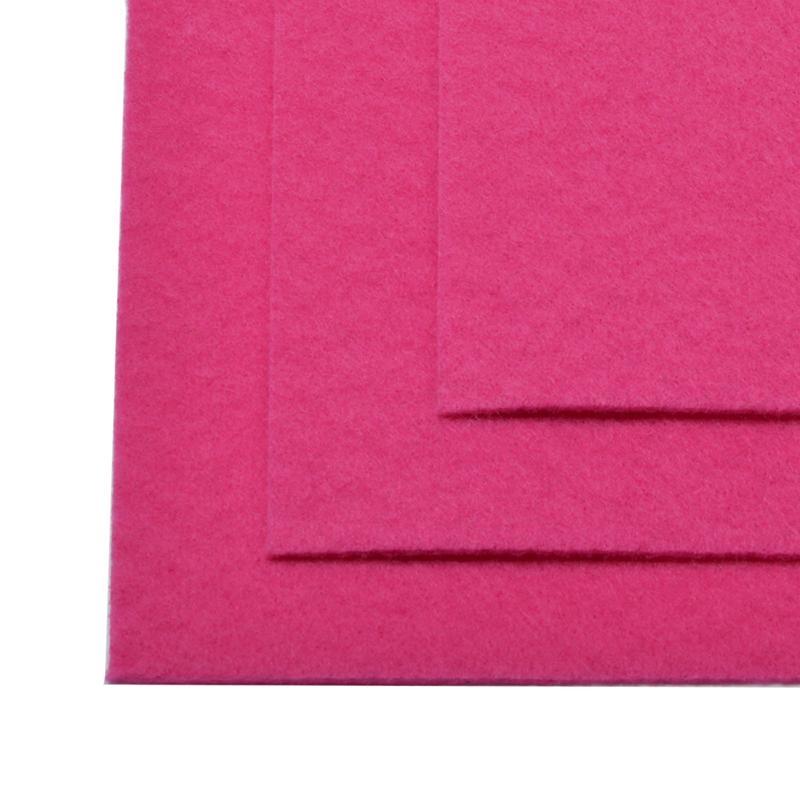 Фетр листовой жест. FLT-H1 1мм 20х30см 609 яр.розовый IDEAL, 1 шт