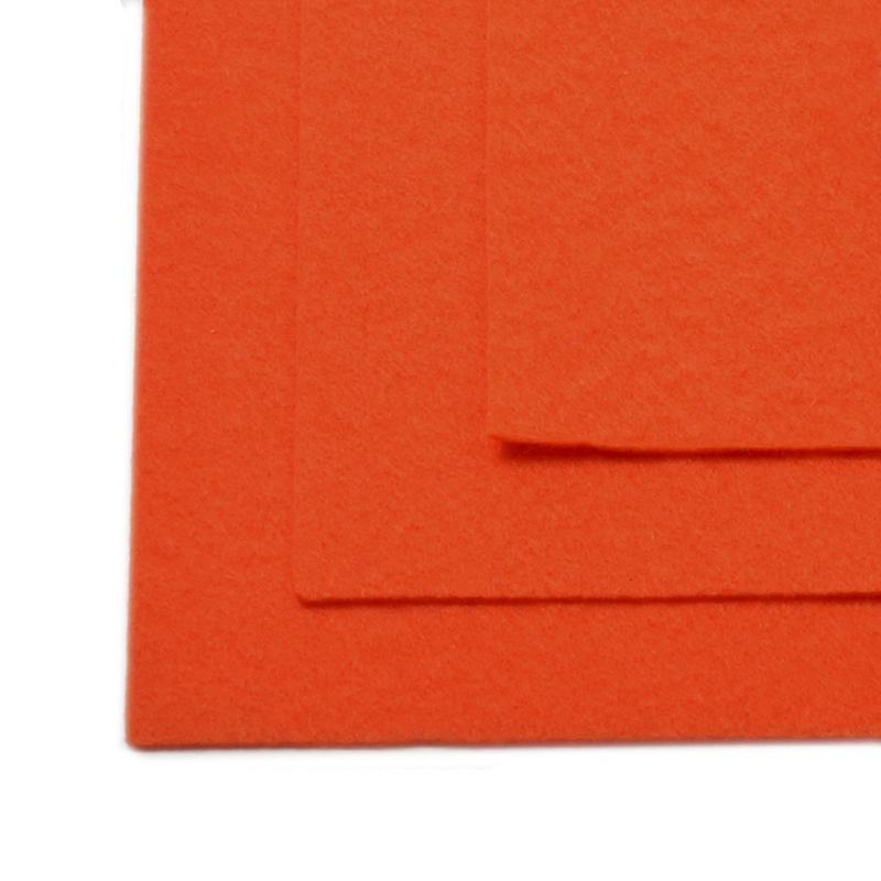 Фетр листовой жест. FLT-H1 1мм 20х30см 628 оранжевый IDEAL, 1 шт