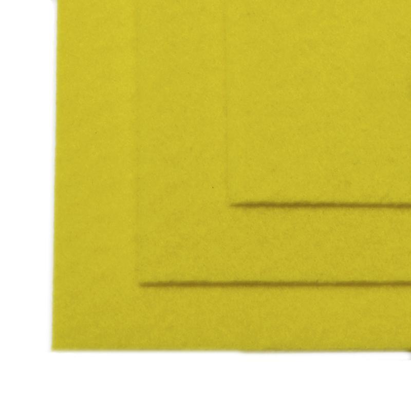 Фетр листовой жест. FLT-H1 1мм 20х30см 633 лимон IDEAL, 1 шт
