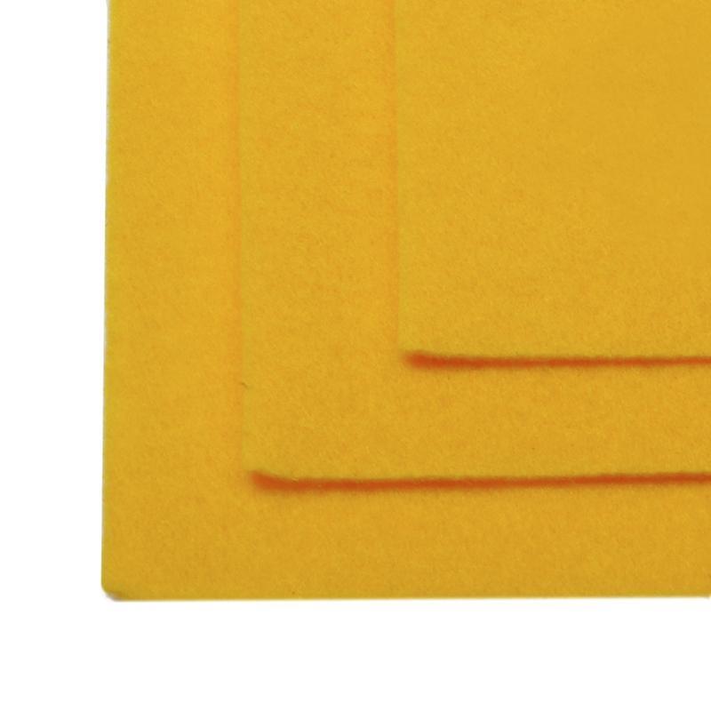 Фетр листовой жест. FLT-H1 1мм 20х30см 640 т.желтый IDEAL, 1 шт