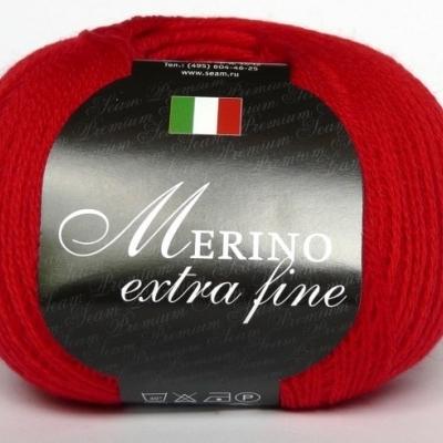 Пряжа Сеам Мерино Экстра Фине (Пряжа Сеам Мерино Экстра Фине, цвет 129 классический красный (новый цвет))