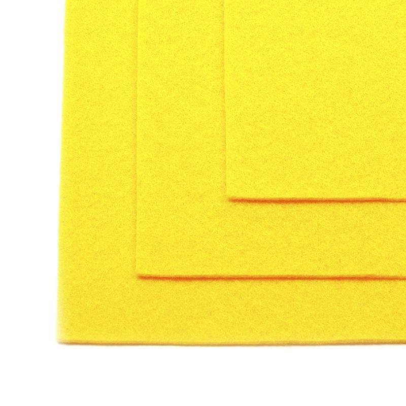 Фетр листовой жест. FLT-H1 1мм 20х30см 643 желтый IDEAL, 1 шт