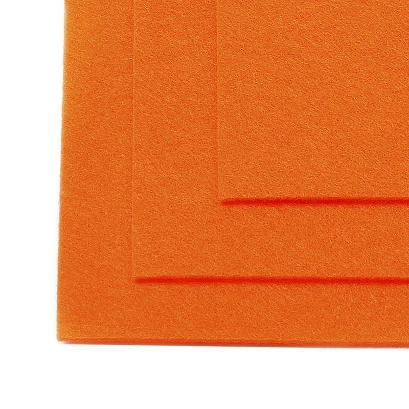 Фетр листовой жест. FLT-H1 1мм 20х30см 645 бл.оранжевый IDEAL, 1 шт