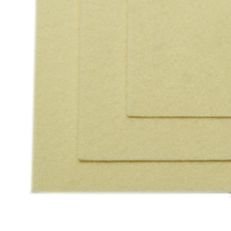 Фетр листовой жест. FLT-H1 1мм 20х30см 647 топленое молоко IDEAL, 1 шт
