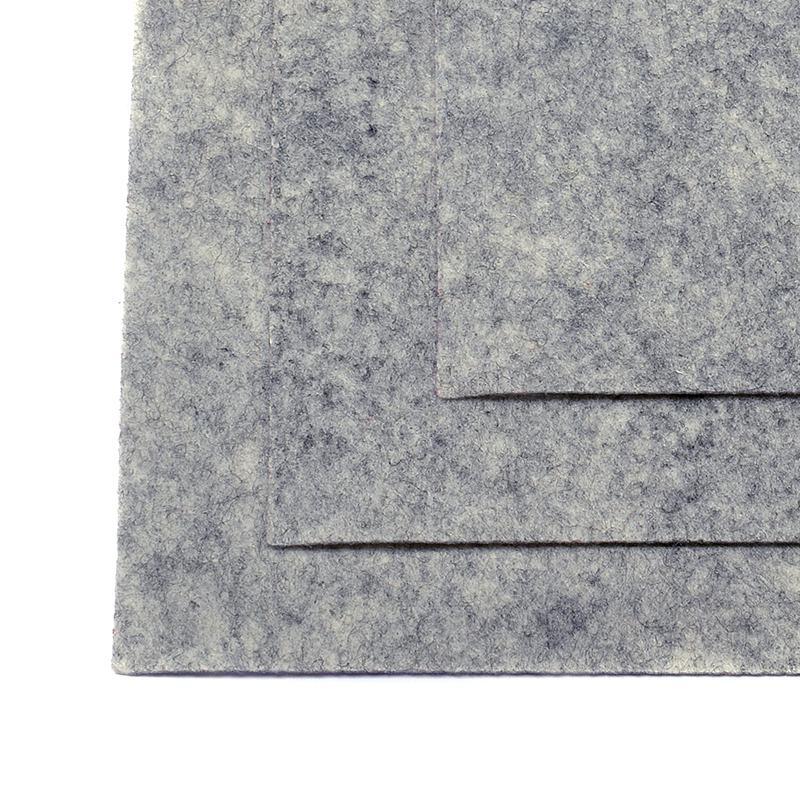 Фетр листовой жест. FLT-H1 1мм 20х30см 657 мрамор IDEAL, 1 шт