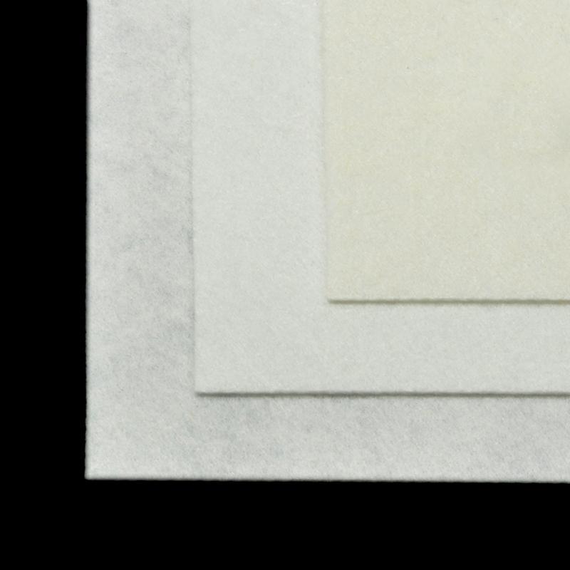 Фетр листовой жест. FLT-H1 1мм 20х30см 660 белый IDEAL, 1 шт
