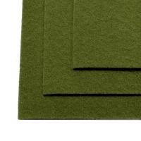 Фетр листовой жест. FLT-H1 1мм 20х30см 663 болотный IDEAL, 1 шт (663 болотный)