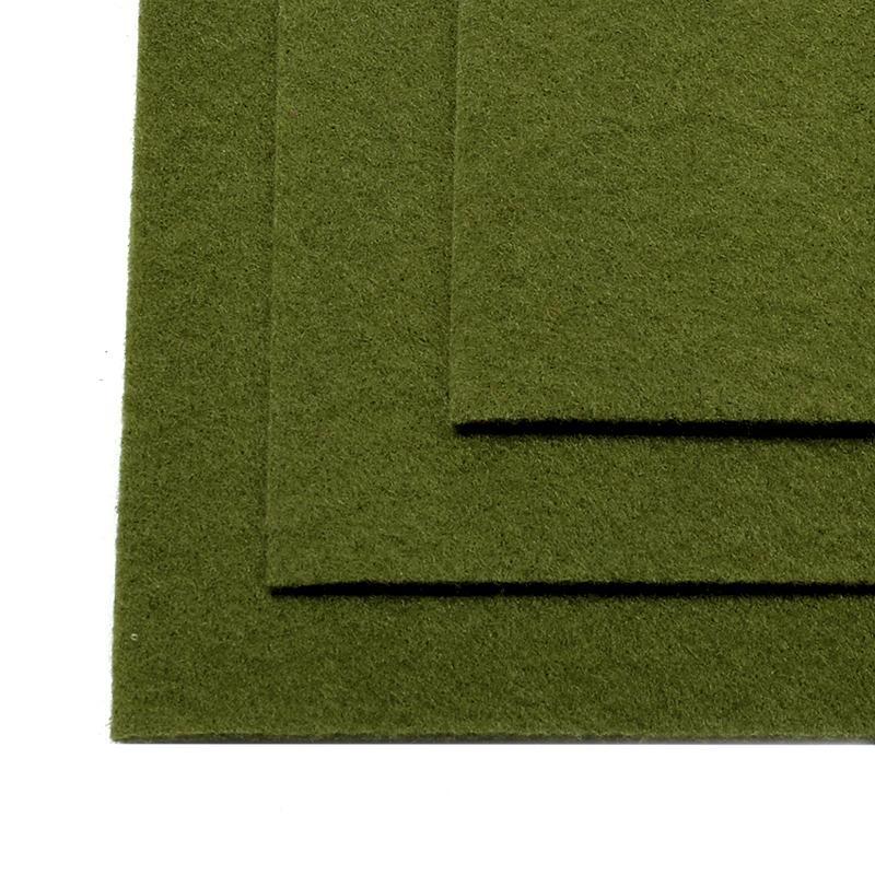Фетр листовой жест. FLT-H1 1мм 20х30см 663 болотный IDEAL, 1 шт