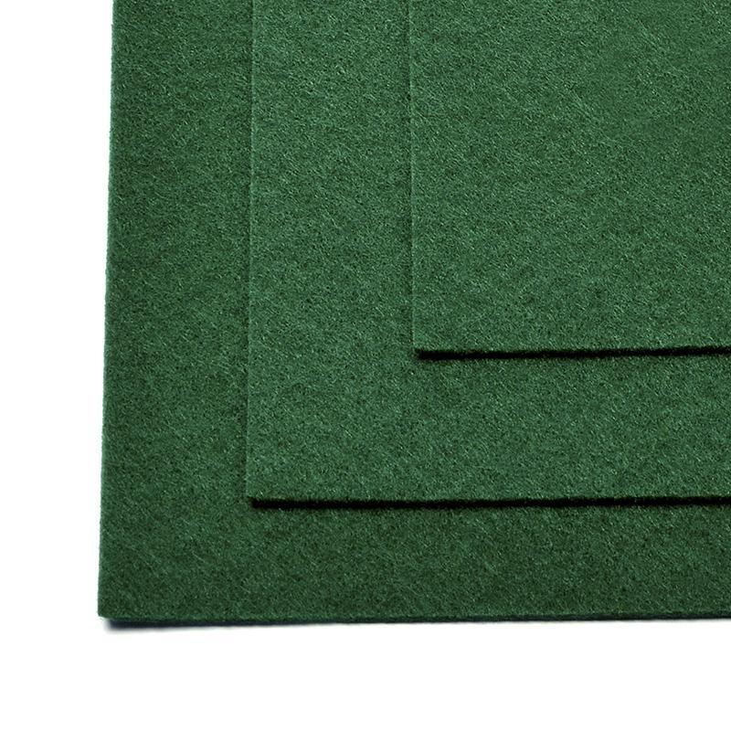 Фетр листовой жест. FLT-H1 1мм 20х30см 667 т.зеленый IDEAL, 1 шт