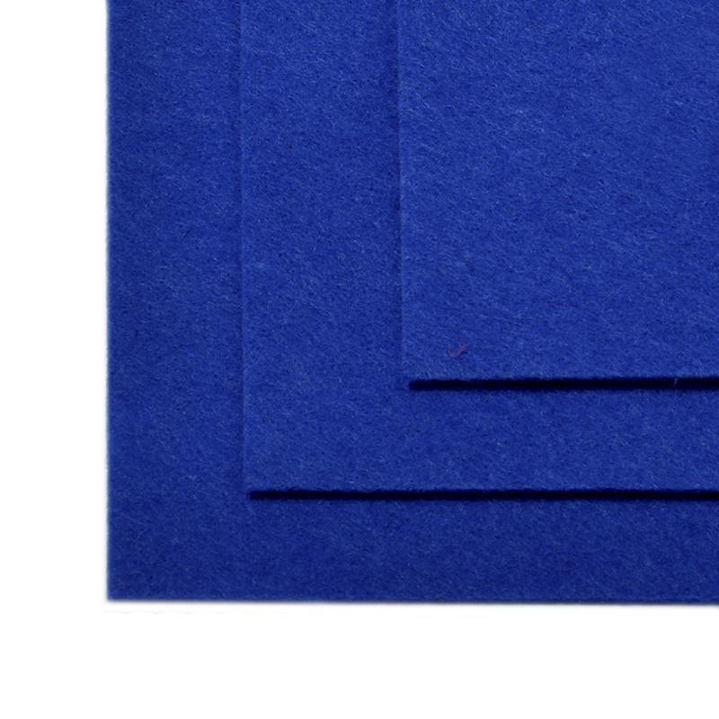 Фетр листовой жест. FLT-H1 1мм 20х30см 679 синий IDEAL, 1 шт