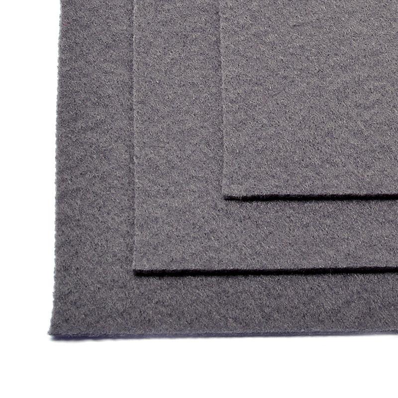 Фетр листовой жест. FLT-H1 1мм 20х30см 694 серый IDEAL, 1 шт