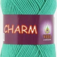 Пряжа Vitа cotton Charm (4503 светлая зеленая бирюза)
