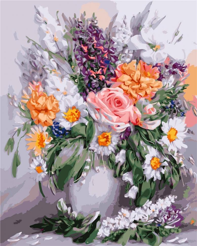 Картина по номерам VA-2649 Яркие цветы 40х50 см