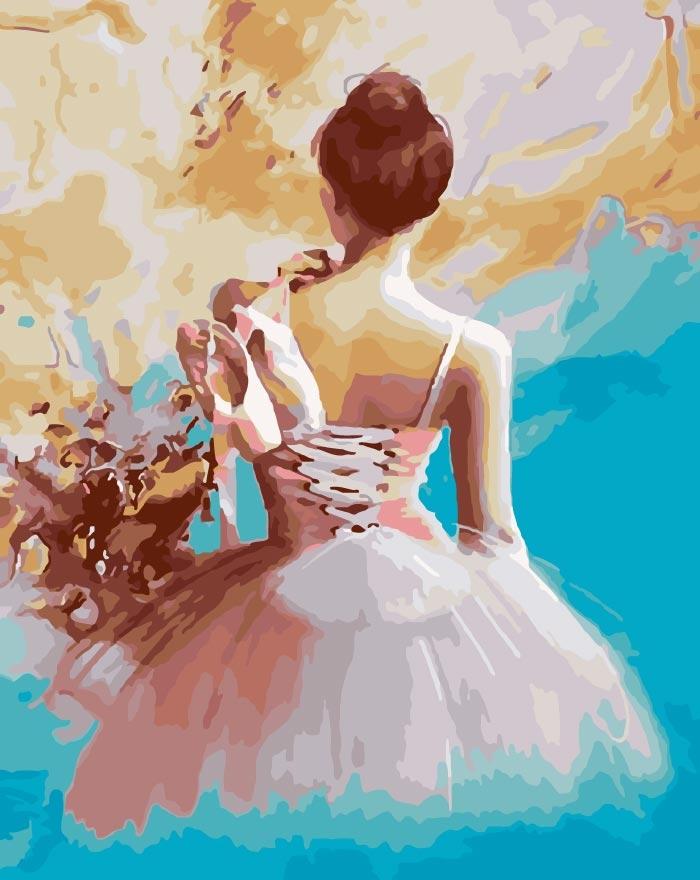 Картина по номерам WA5088 Балерина 40х50 см