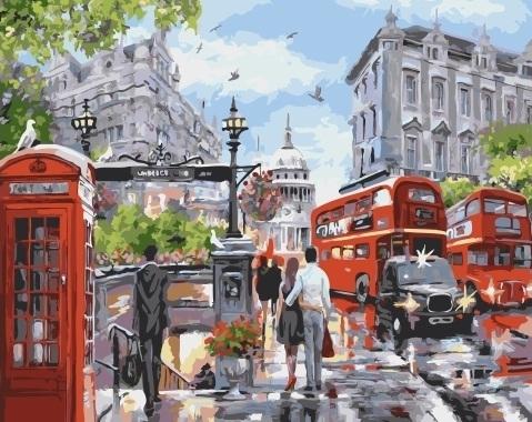 Картина по номерам GX 32733 Лондон 40х50 см