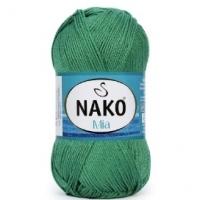 Пряжа Nako Mia (3472 изумрудно-зелёный)
