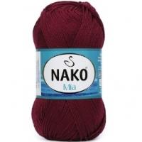 Пряжа Nako Mia (2301 бордо)