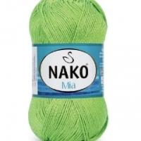 Пряжа Nako Mia (4892 светло-зелёный)