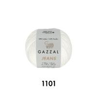 Пряжа Gazzal Jeans (1101 светло-молочный)
