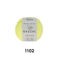 Пряжа Gazzal Jeans (1102 светло-лимонный)