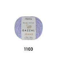 Пряжа Gazzal Jeans (1103 лаванда)