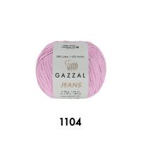 Пряжа Gazzal Jeans (1104 сиренево-розовый)