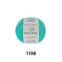 Пряжа Gazzal Jeans (1108 мятный)