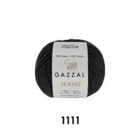Пряжа Gazzal Jeans (1111 чёрный)