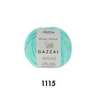 Пряжа Gazzal Jeans (1115 светлая мята)