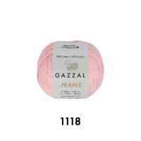 Пряжа Gazzal Jeans (1118 пастельно-розовый)