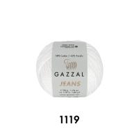 Пряжа Gazzal Jeans (1119 белый)