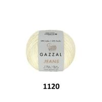 Пряжа Gazzal Jeans (1120 слоновая кость)