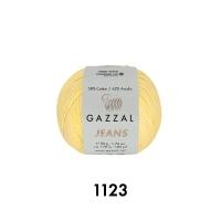 Пряжа Gazzal Jeans (1123 светло-жёлтый)