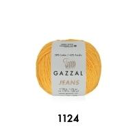 Пряжа Gazzal Jeans (1124 шафран)